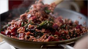 beet risotto greens