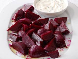 beets with chive cream