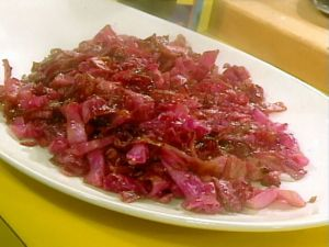 sauteed red cabbage